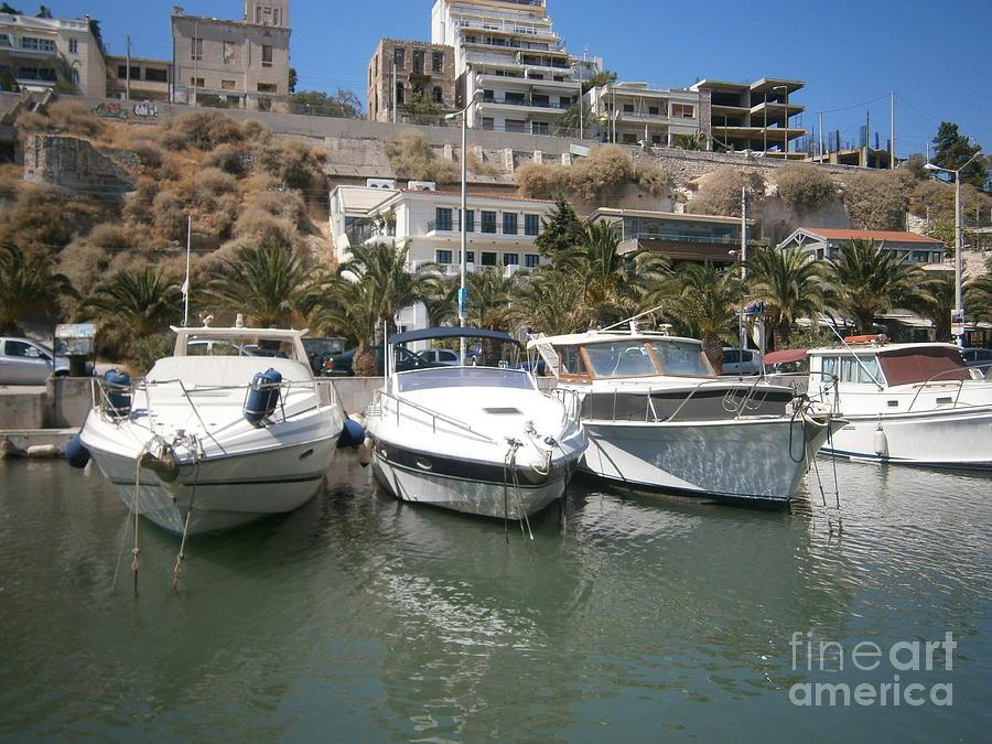 Piraeus Photograph - Tourkolimano-3 by Katerina Kostaki