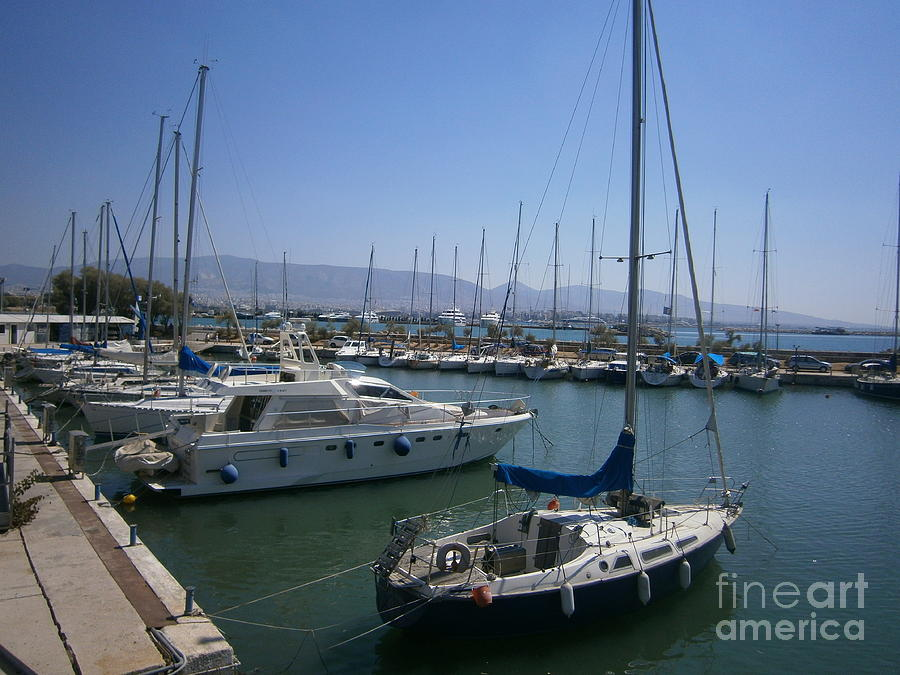Piraeus Photograph - Tourkolimano -piraeus  by Katerina Kostaki