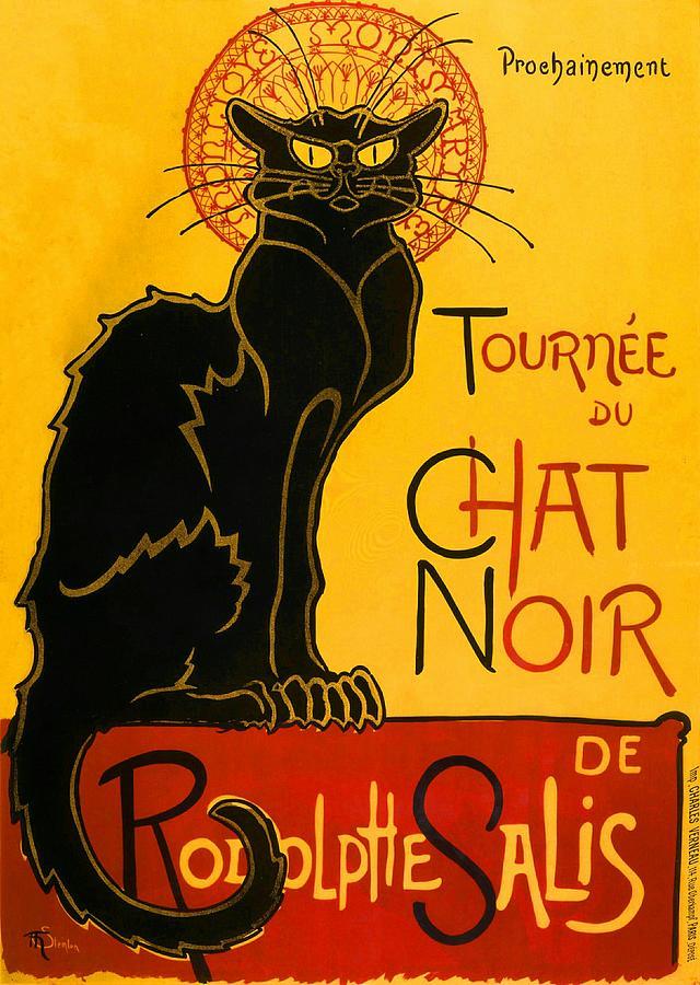 Tournee Du Chat Noir Painting