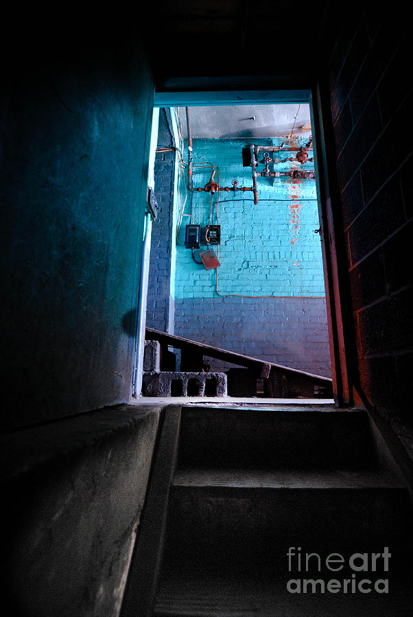 Basement Photograph - Towards The Glow by Amy Cicconi