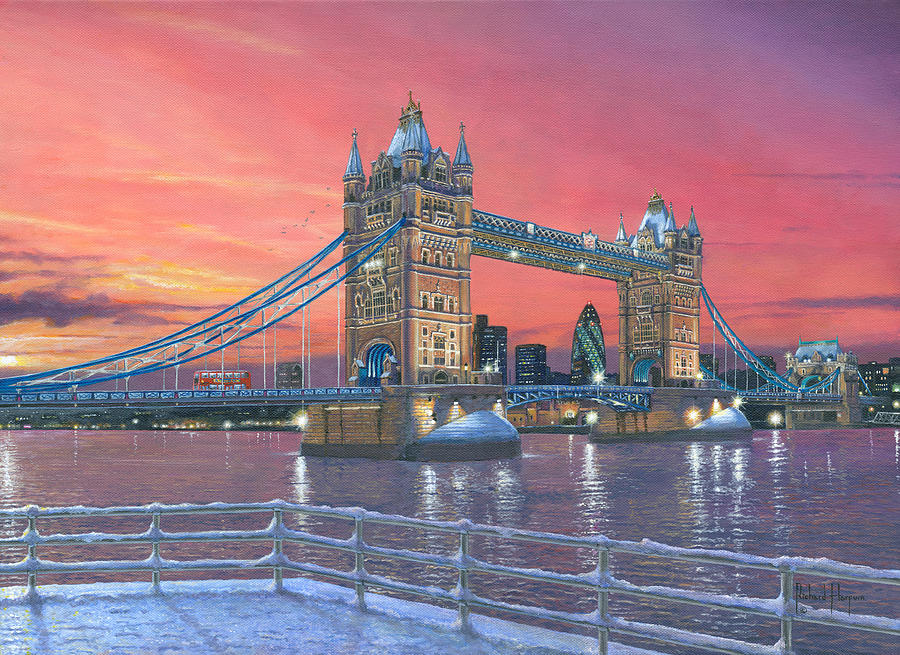 Tower Bridge After The Snow Painting