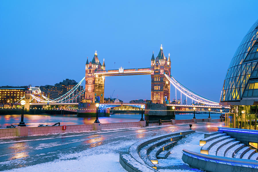 Tower Bridge And City Hall London Photograph by Owenprice
