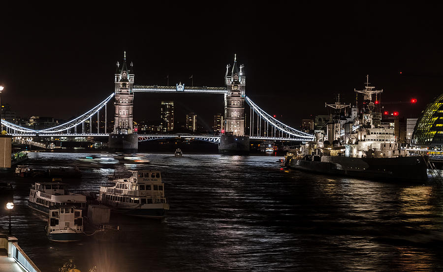 Tower Bridge Digital Art - Tower Bridge London England by John Hastings