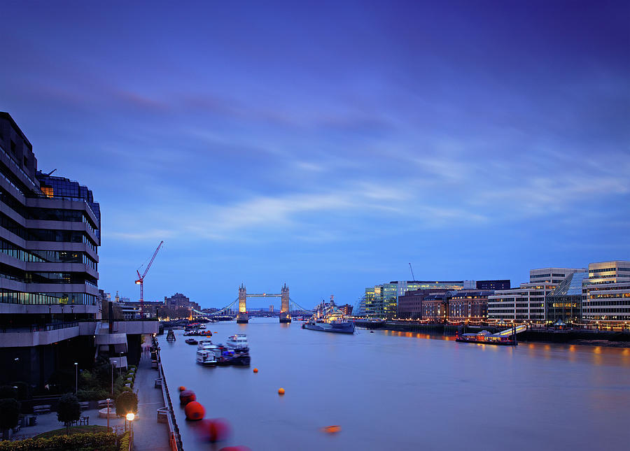 Tower Bridge And The Thames River At Photograph by Mammuth