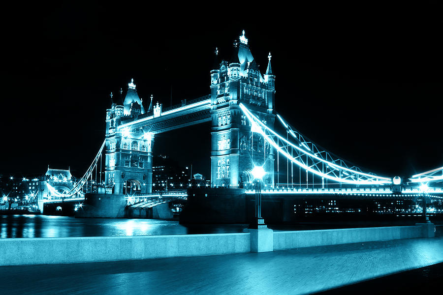 Tower Bridge Photograph - Tower Bridge Blue by Dan Davidson