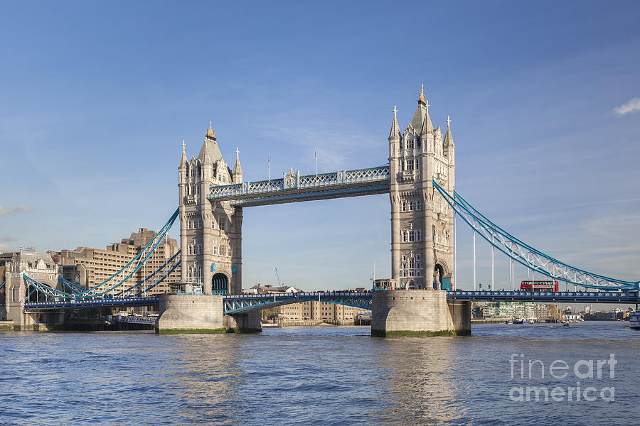 England Photograph - Tower Bridge In London by Roberto Morgenthaler