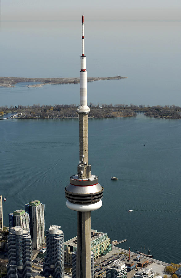 Canada Photograph - Tower Close Up With Lake Ontario In by Bernard Dupuis