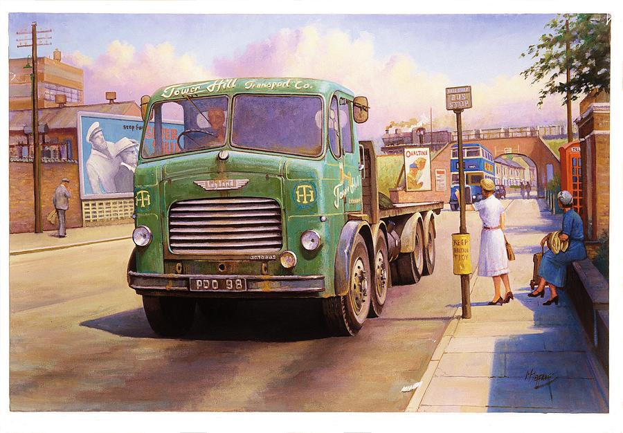 Leyland Painting - Tower Hill Transport. by Mike  Jeffries