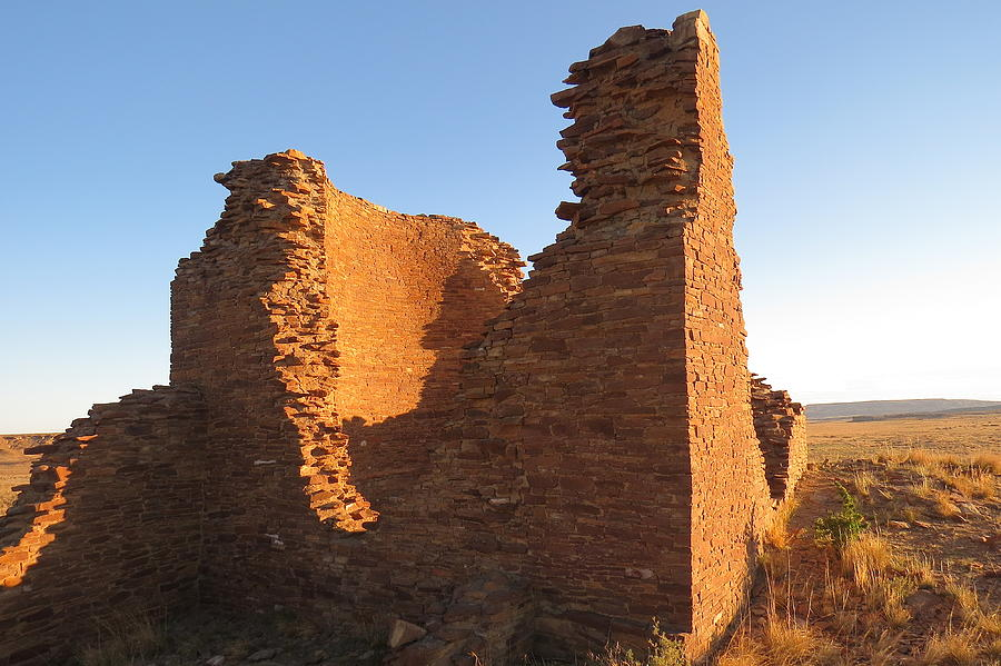 Chaco Photograph - Tower Kiva At Kin Klizhin by Feva  Fotos