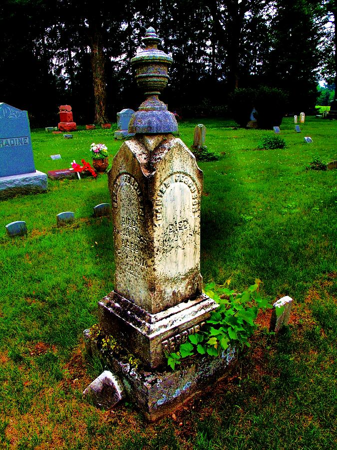 Grave Photograph - Tower Marker by Mark Malitz