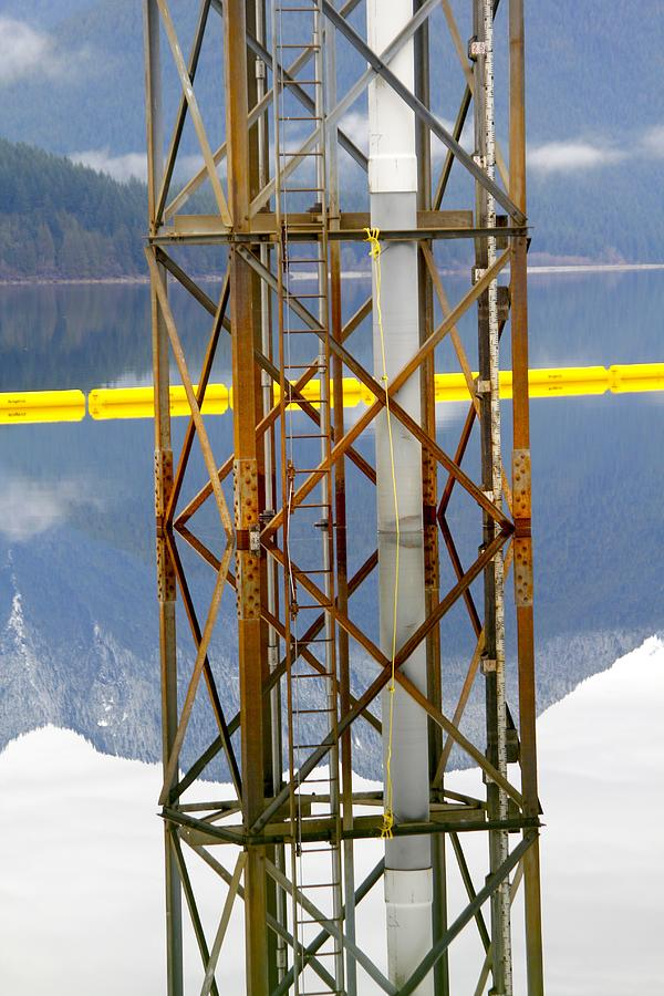 Lake Tower Mirrored Photograph