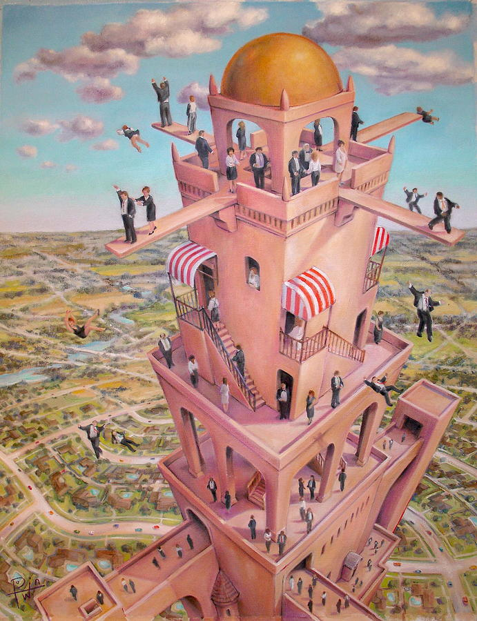 Tower Painting - Tower Of Babbit by Henry Potwin