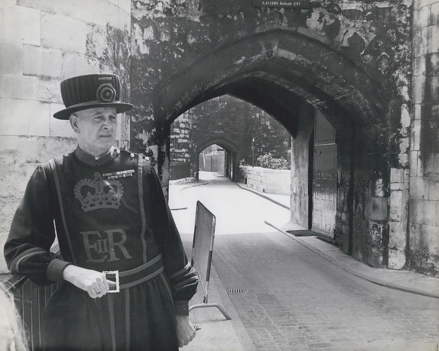 Retro Photograph - Tower Of London Closed By Beefeater Strike by Retro Images Archive