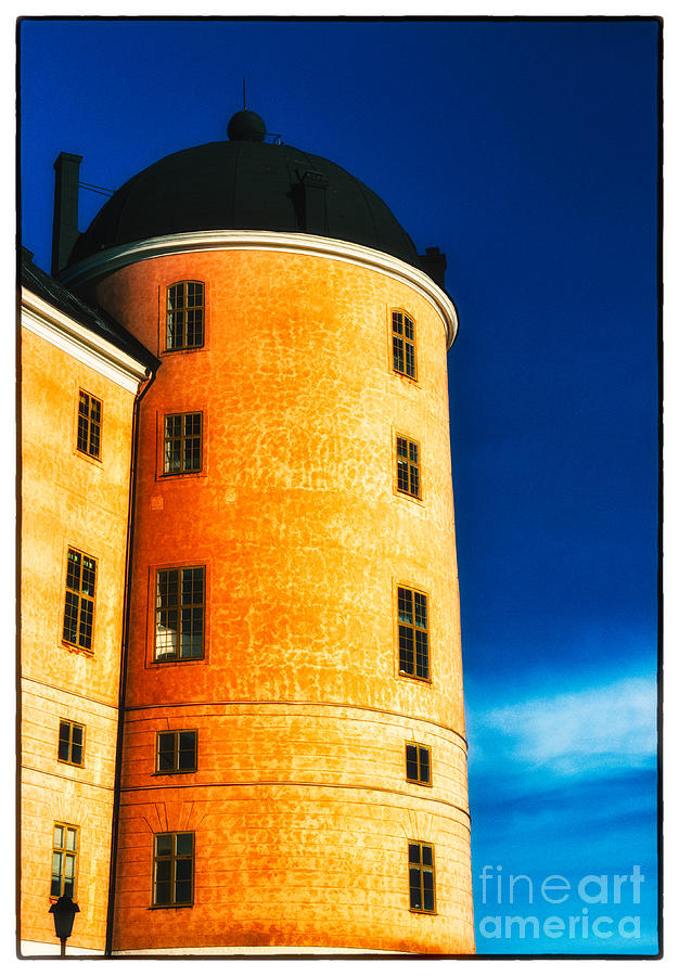 Castle Photograph - Tower Of Uppsala Castle - Sweden by David Hill