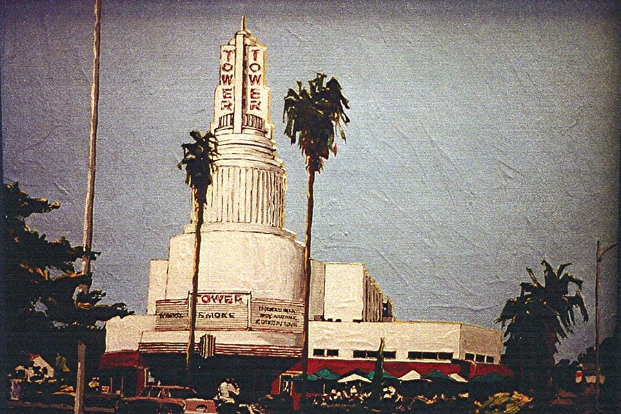 Sacramento Painting - Tower Theatre by Paul Guyer