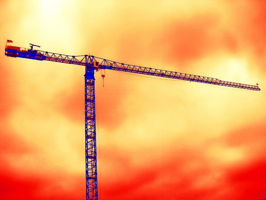 Tower Crane Photograph - Towering 1 by Wendy J St Christopher