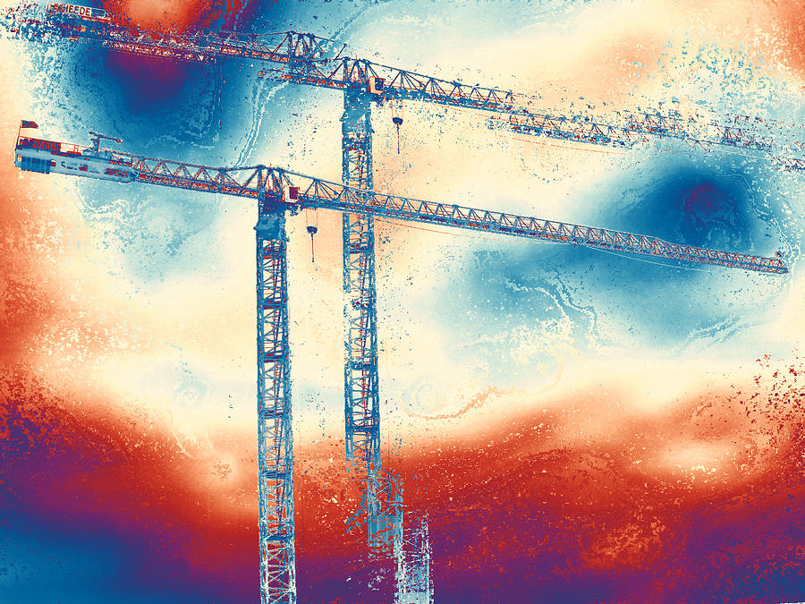 Tower Crane Photograph - Towering 3 by Wendy J St Christopher