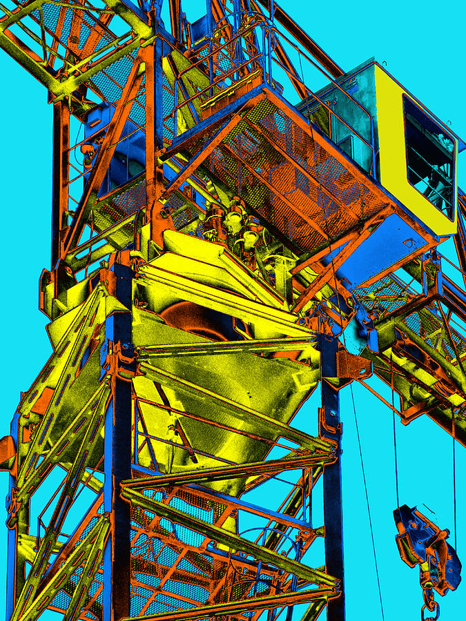 Tower Crane Photograph - Towering 5 by Wendy J St Christopher