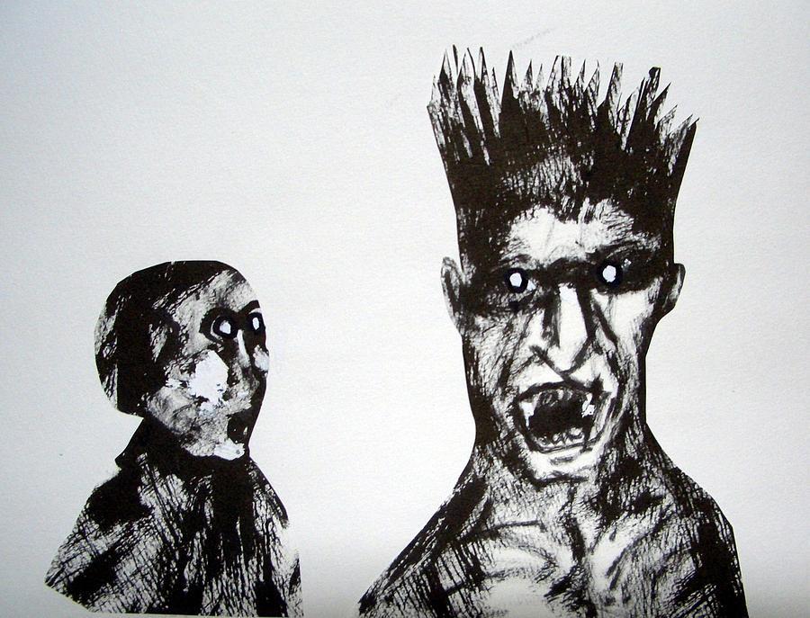 Harie Drawing - Towering Fury by Aquira Kusume
