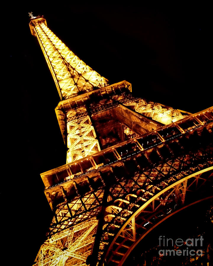 Eiffel Tower Photograph - Towering by Heather Applegate