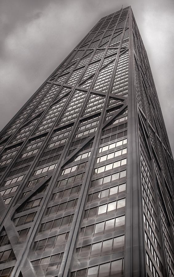 Chicago Photograph - Towering John Handcock Building by Ken Smith