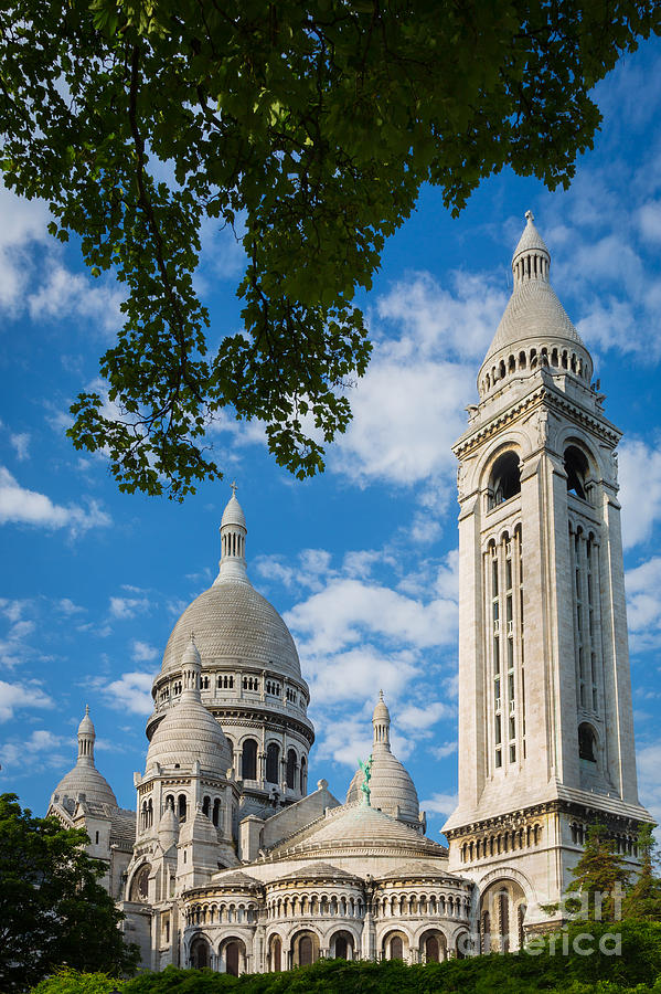 Christianity Photograph - Towering Sacre-coeur by Inge Johnsson