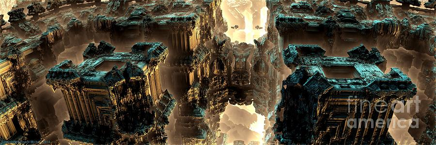 Fractal Art Digital Art - Towers by Bernard MICHEL