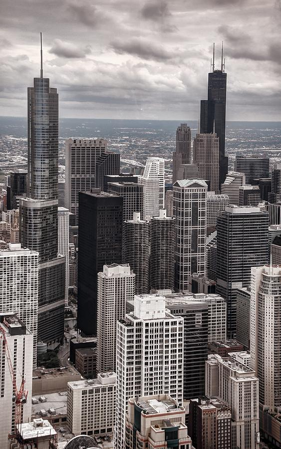 Chicago Photograph - Towers Of Chicago by Ken Smith