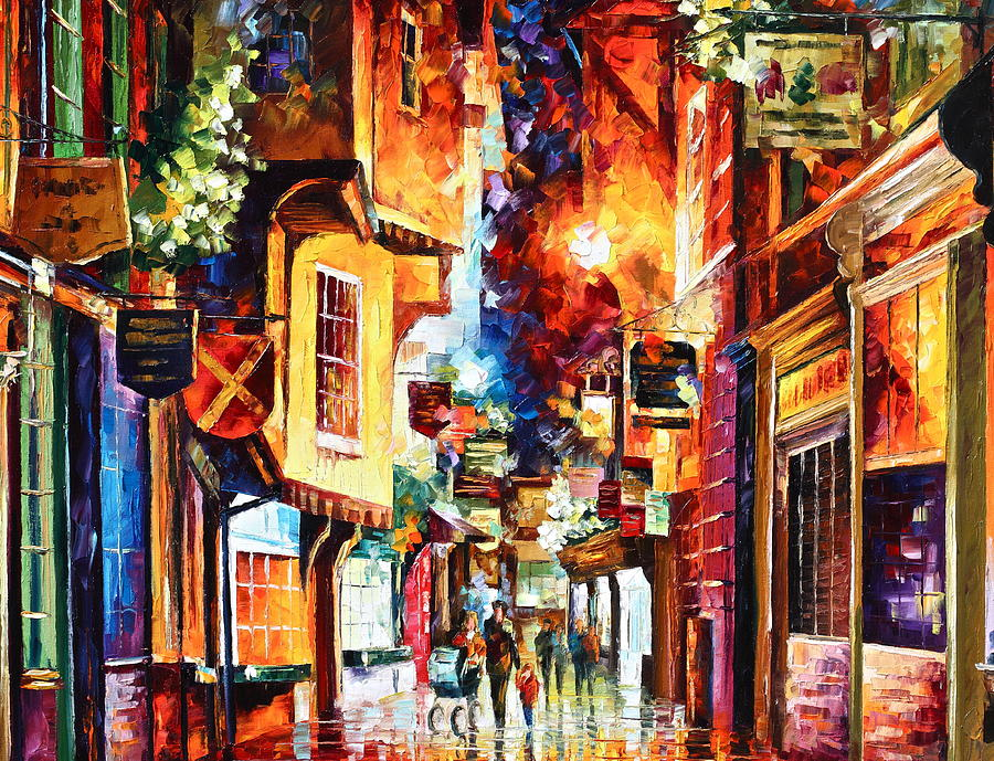 Afremov Painting - Town In England by Leonid Afremov