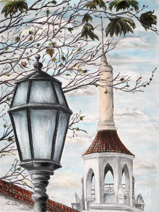 Santa Barbara Drawing - Town Jewels by Danuta Bennett