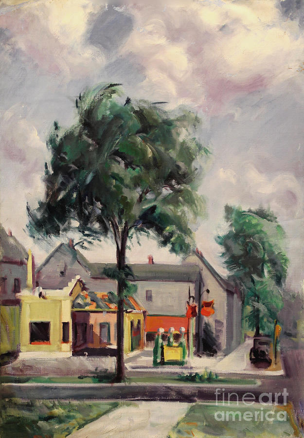 Town Street 1939 by Art By Tolpo Collection