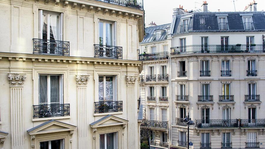 Townhouses In Montmartre Paris France Photograph by Pidjoe