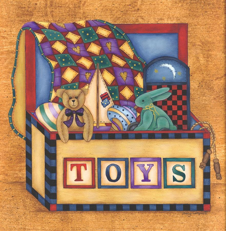 Toys For Painting : Toy box painting by tracy campbell