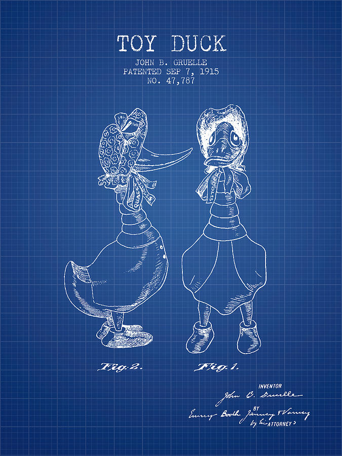 Toy duck patent from 1915 female blueprint digital art by aged pixel duck digital art toy duck patent from 1915 female blueprint by aged pixel malvernweather Gallery