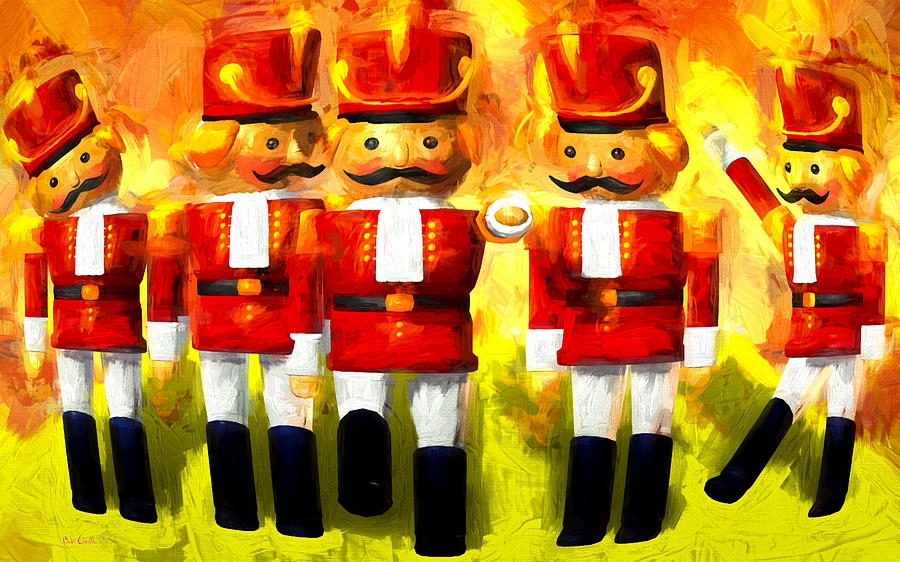 Toy Soldiers Painting - Toy Soldiers Nutcracker by Bob Orsillo