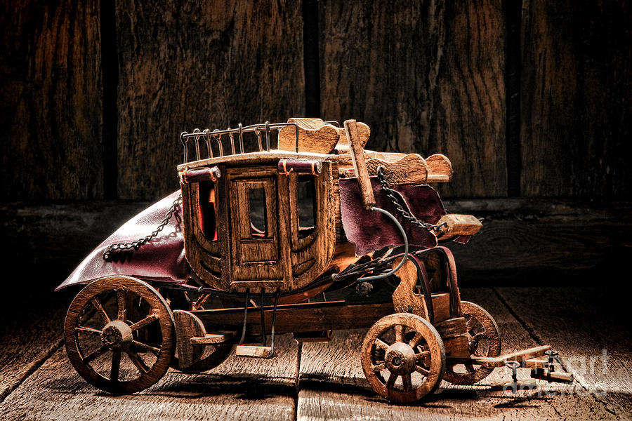 Western Photograph - Toy Stagecoach by Olivier Le Queinec