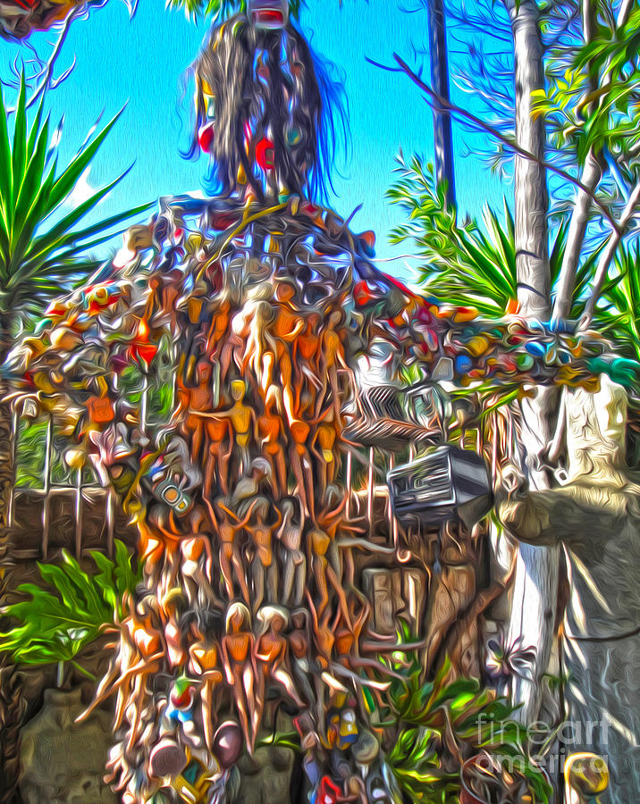 Weird Photograph - Toy Tree - 04 by Gregory Dyer