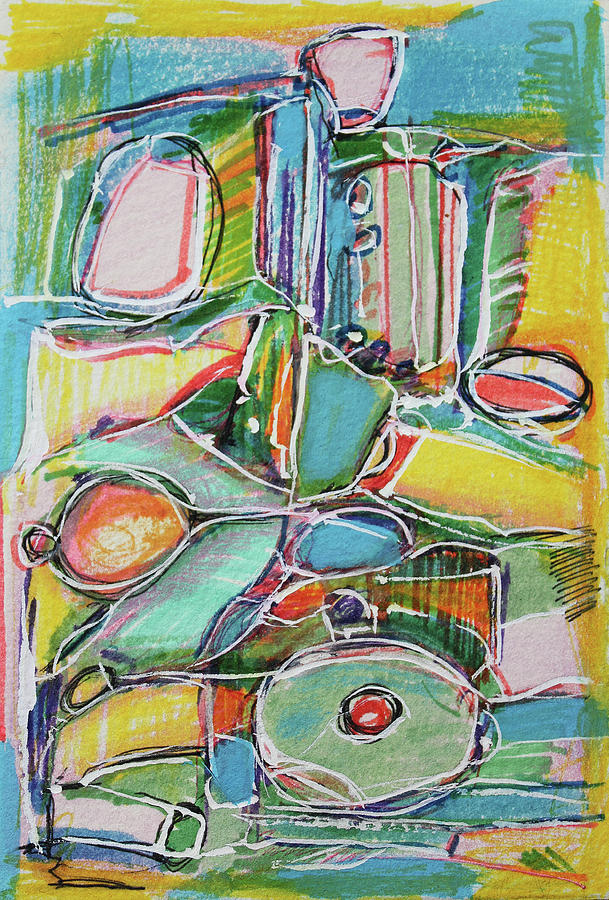 Abstract Painting Painting - Toys For The Children by Hari Thomas