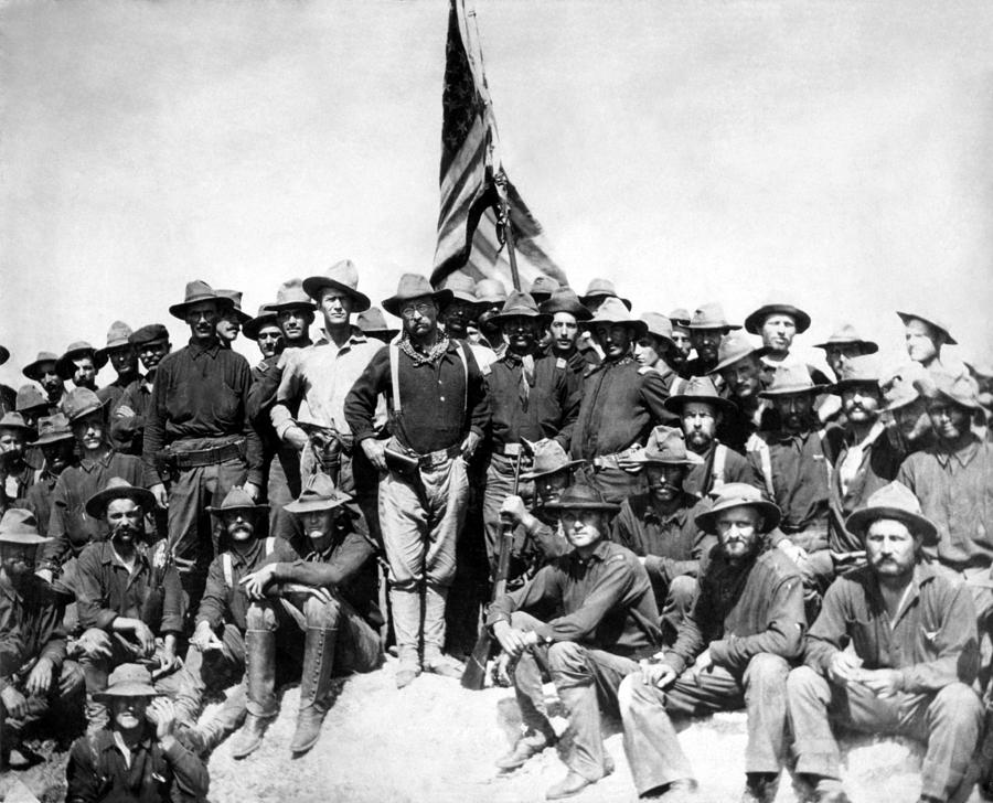 Teddy Roosevelt Photograph - Tr And The Rough Riders by War Is Hell Store