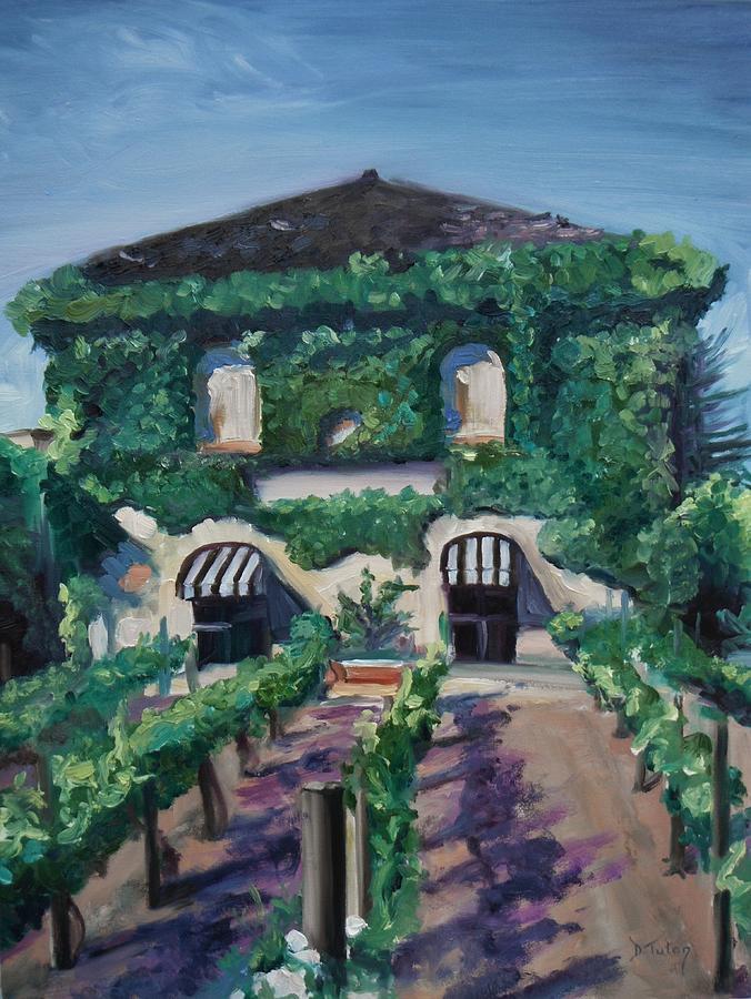 Vineyard Painting - Tra Vigne by Donna Tuten