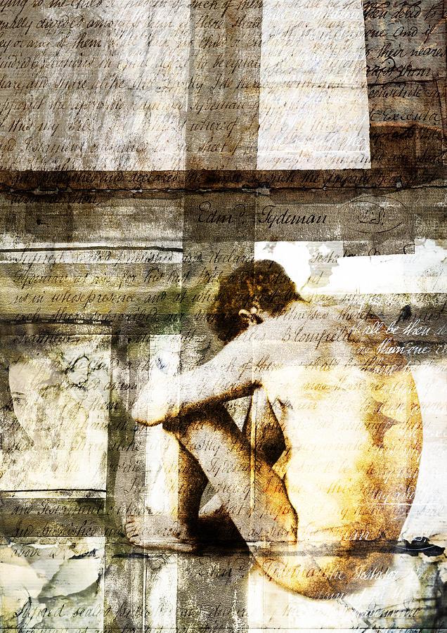 Man Digital Art - Traces 09 by Mark Preston