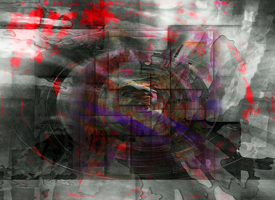 Abstract Digital Art - Traces Of Memory by Florin Birjoveanu