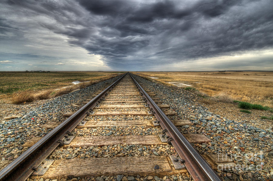 Tracks Photograph - Tracks Across The Land by Bob Christopher