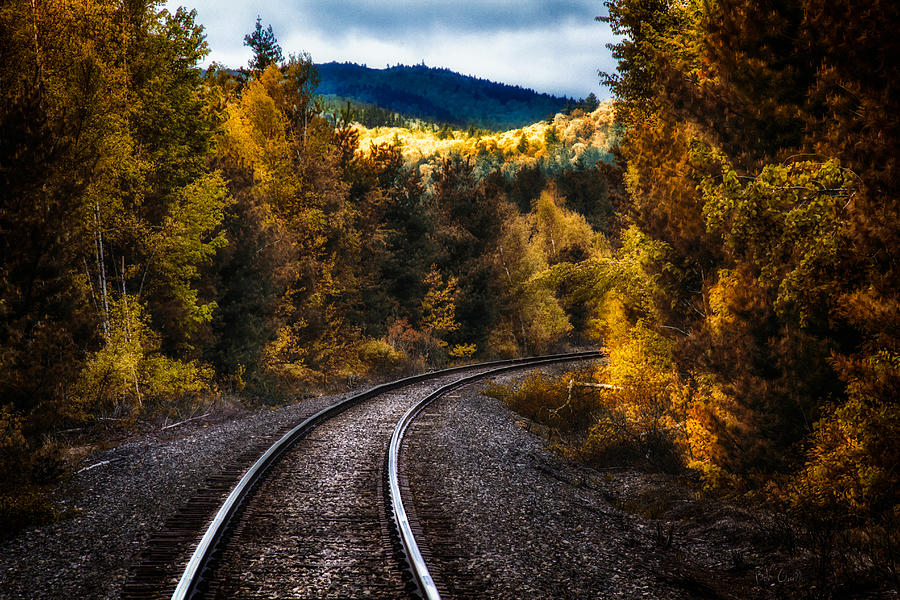 Trains Photograph - Tracks Through The Mountains  by Bob Orsillo