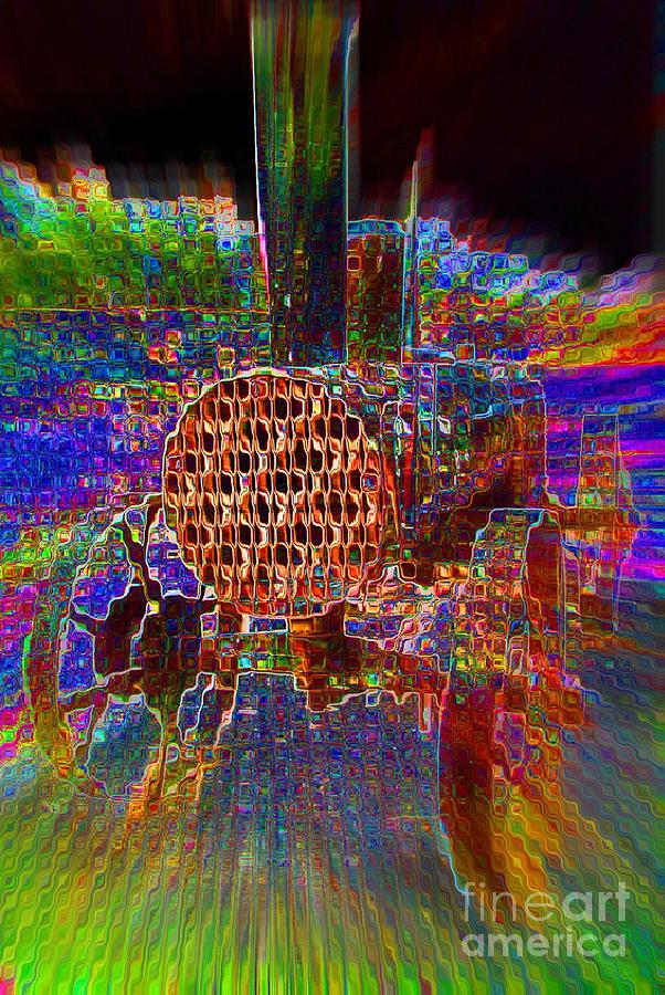 Tractor Digital Art - Tractable Light by Lorles Lifestyles
