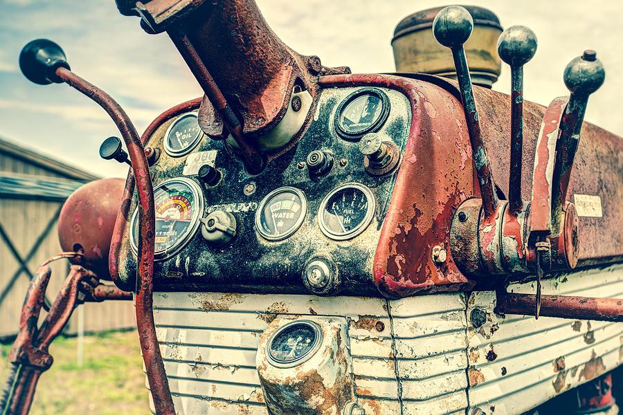 Industrial Photograph - Tractor Dash - Farmall 560 Diesel by Gary Heller