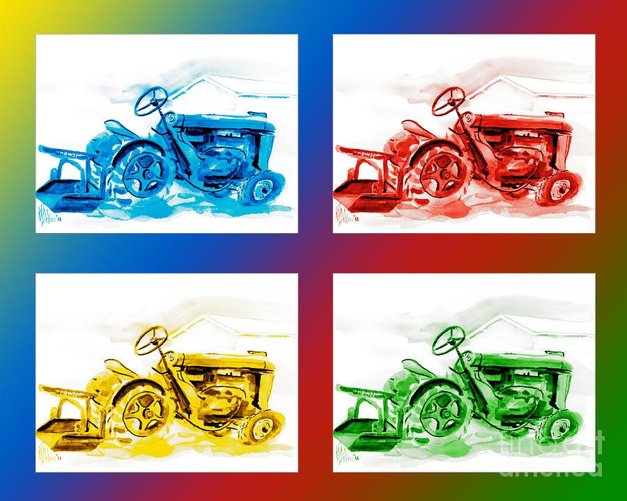 Kip Devore Painting - Tractor Mania IIi by Kip DeVore