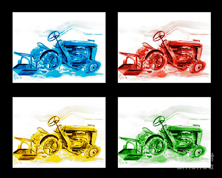 Colorful Painting - Tractor Mania Iv by Kip DeVore