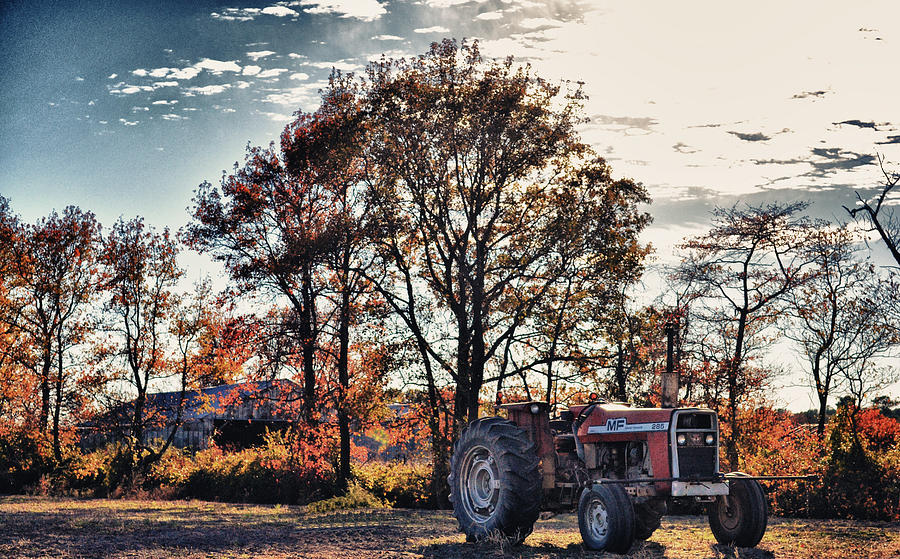 Tractor Photograph - Tractor Out Of The Barn by Kelly Reber
