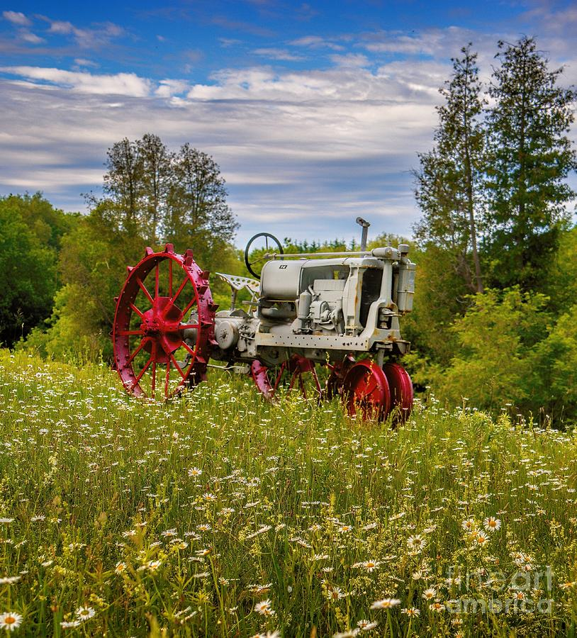 Tractor Photograph - Tractor Out To Pasture by Henry Kowalski